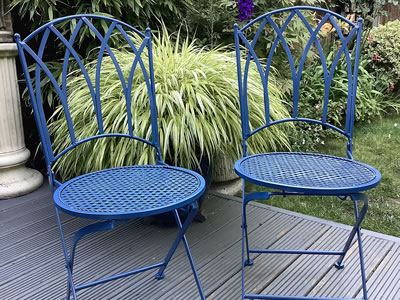Painted garden chairs - Lymington New Forest Hampshire