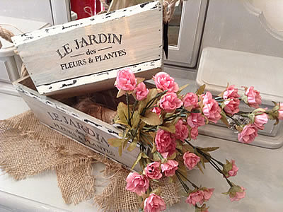 Shabby Chic boxes and flowers - gifts Lymington New Forest