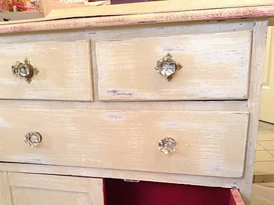 Shabby chic chest and dresser, Lymington Hampshire
